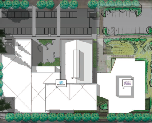 The Boys & Girls Club and Open Meadow plan to build new neighboring facilities in Rockwood. Construction is scheduled to wrap up next fall. (Holst Architecture/City of Gresham)