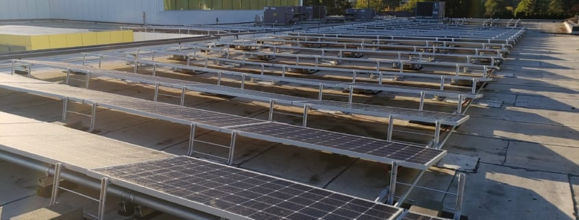 Solar Panels Installed on the rooftop of Rockwood Club