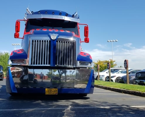 Optimus Prime, movie star truck owned by Daimler Trucks North America