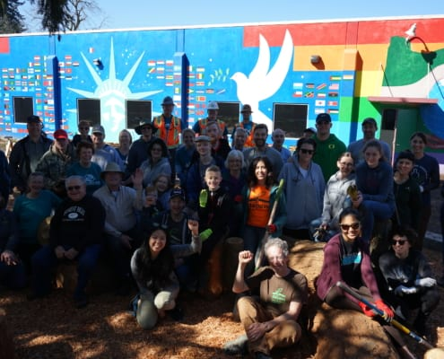Volunteers pose at the Depave planting party as we finished up our Inukai playground.