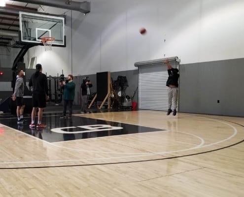R'jn shooting a basketball